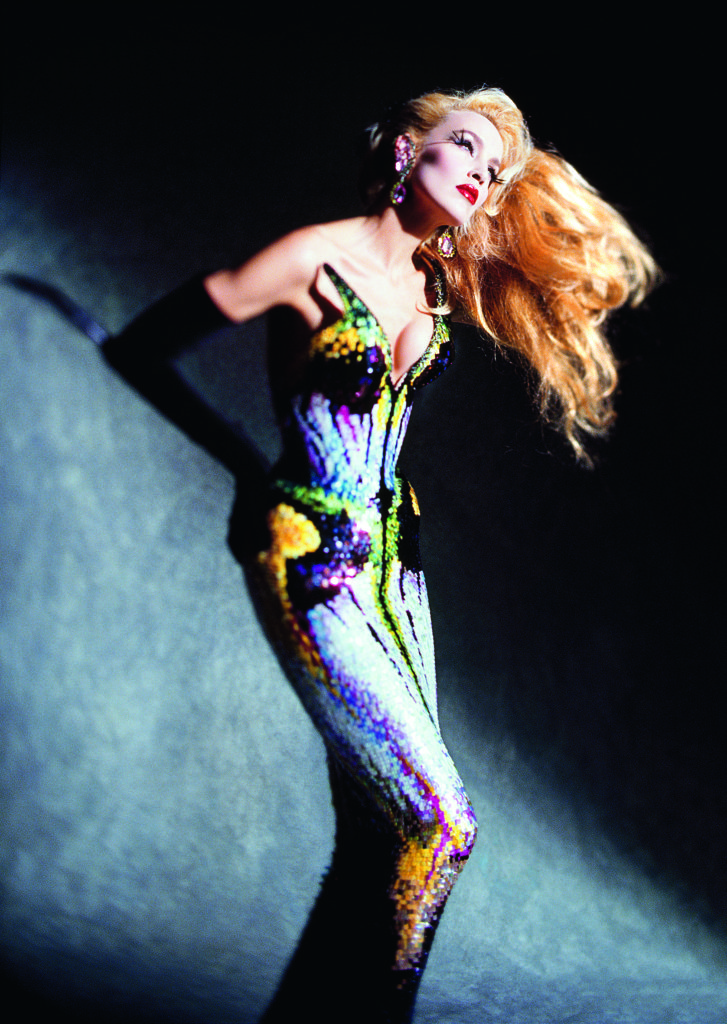 Dominique Issermann, Jerry Hall Outfit: Thierry Mugler, Les Insectes collection, haute couture spring/summer 1997 Photo: © Dominique Issermann
